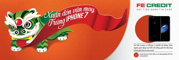 Xuân Đón Vận May, Trúng iPhone 7