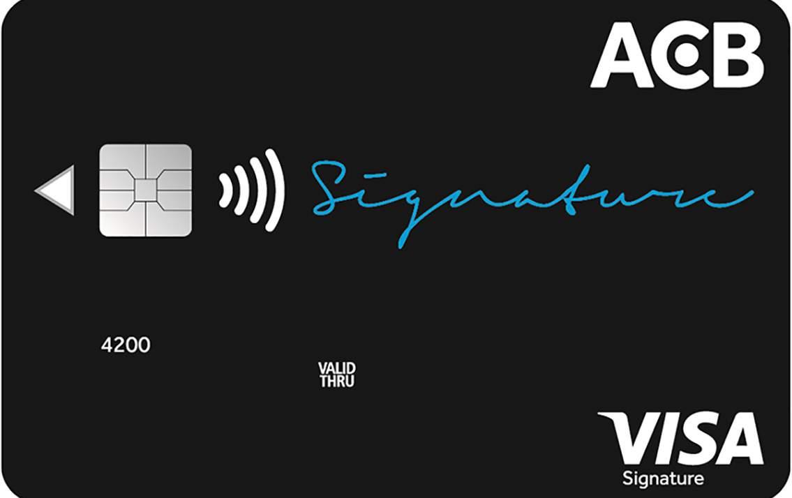 Thẻ ACB Signature - Sản phẩm tín dụng đỉnh cao phong thái