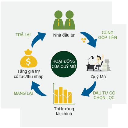 Mô hình minh họa quy trình đầu tư quỹ mở