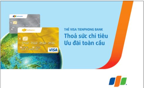 Hạn mức thẻ tín dụng quốc tế Tienphong Bank Visa